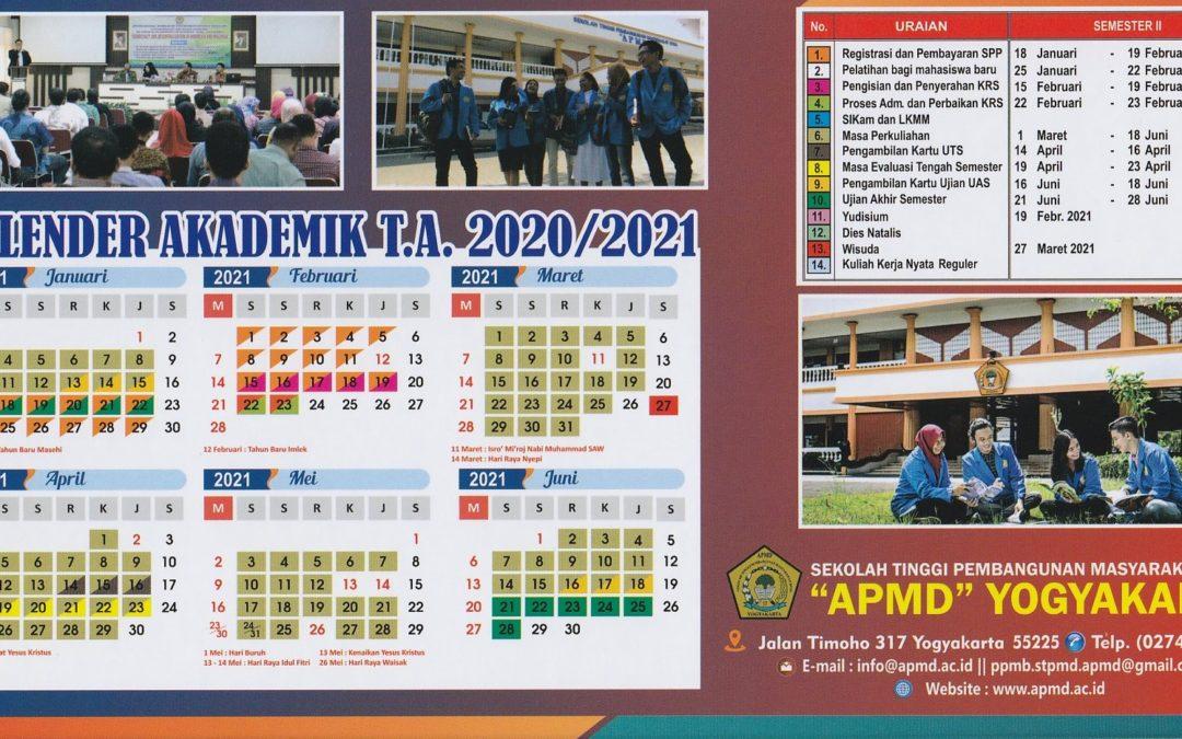 KALENDER AKADEMIK T.A. 2020/2021 SEMESTER II